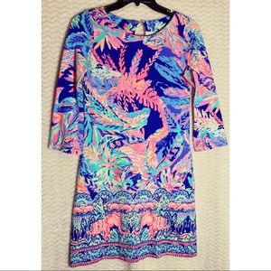 Lilly Pulitzer Bay Dress Neon Long Sleeve Size XS